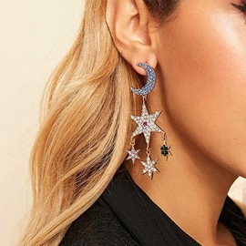 Ericdress Sweet Star Moon Holiday Women's Earrings