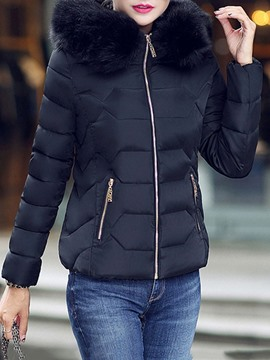 Ericdress Slim Thick Standard Fur Collar Women's Cotton Padded Jacket
