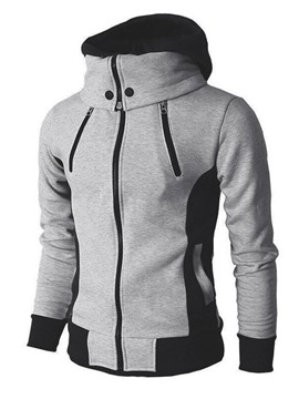 Ericdress Pullover Thick Color Block Men's Hoodies