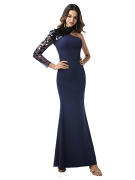 Ericdress Ankle-Length Mermaid Sequins Long Sleeves Evening Dress 2020