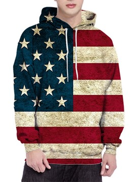Ericdress Pullover Color Block Print Men's Hoodies