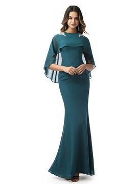 Ericdress Sheath Beading Jewel Evening Dress 2020