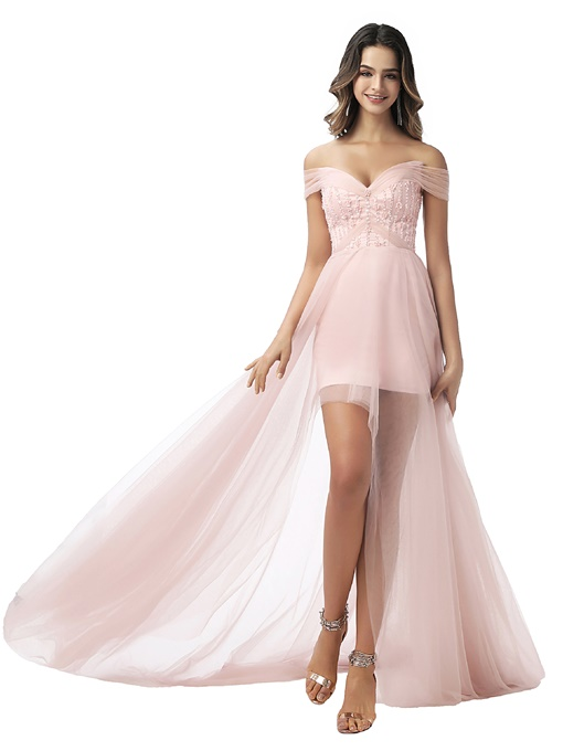 Ericdress Off-The-Shoulder A-Line Sleeveless Prom Dress