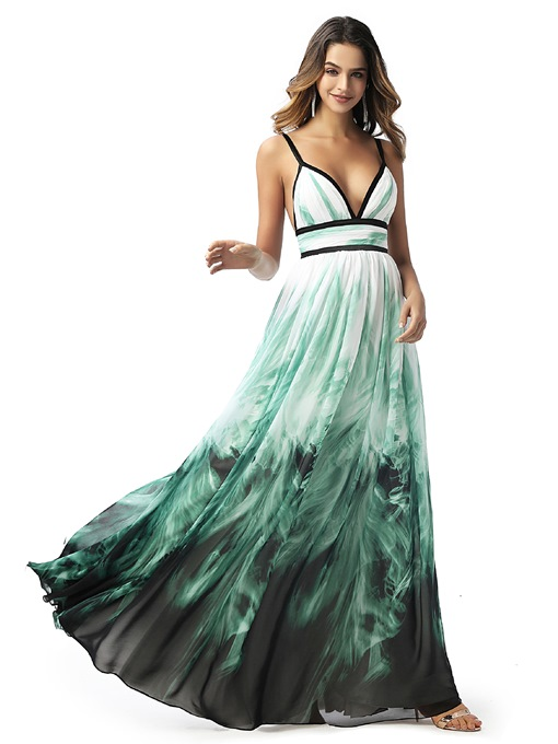 Ericdress Spaghetti Straps Pleats Sleeveless Prom Dress