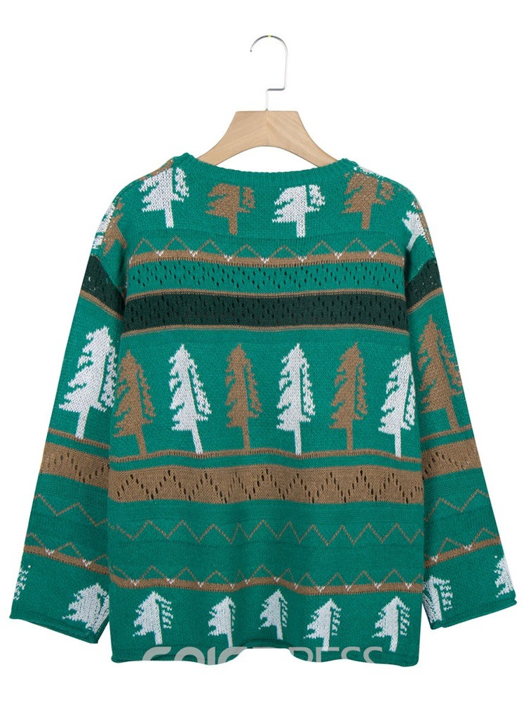 Ericdress Regular Mid-Length Christmas Women's Sweater