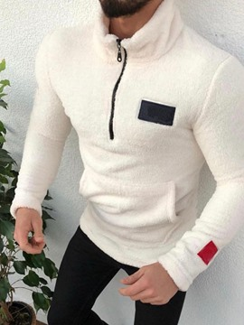 Ericdress Pullover Color Block Patchwork Men's Hoodies