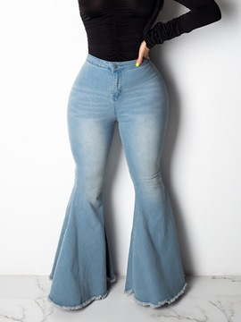 ericdress bellbottoms lavables jeans ajustados