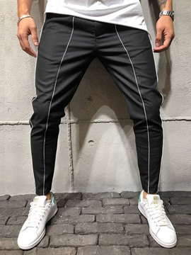 Ericdress Color Block Pocketed Mid Waist Style Men's Casual Pants