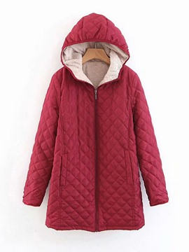 Ericdress Loose Thick Zipper Mid-Length Women's Cotton Padded Jacket