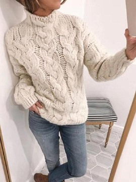 Ericdress Regular Round Neck Casual Women's Sweater