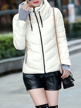 Ericdress Slim Zipper Standard Women's Cotton Padded Jacket