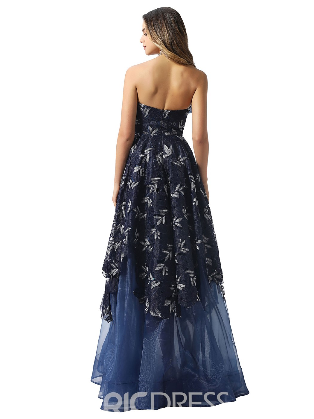 Ericdress Sleeveless Ruched Strapless Prom Dress