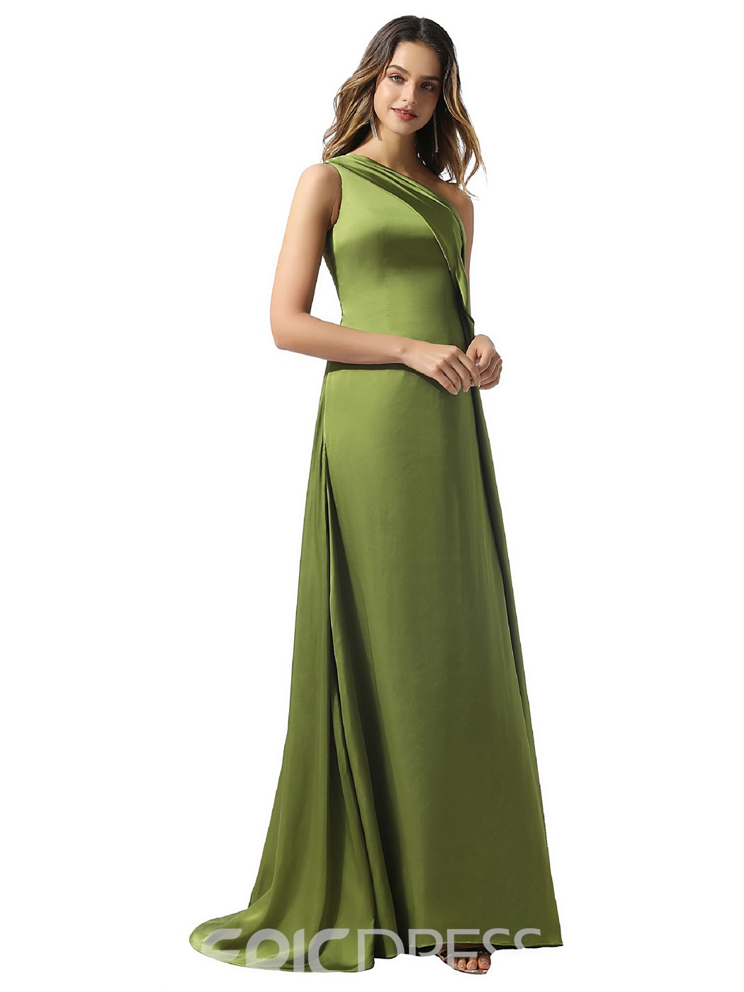 Ericdress Floor-Length A-Line Sleeveless Evening Dress 2020
