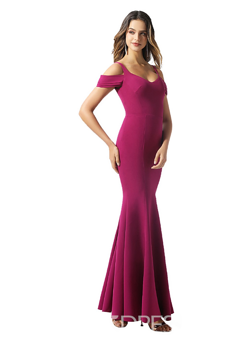 Ericdress Mermaid Ankle-Length Straps Evening Dress
