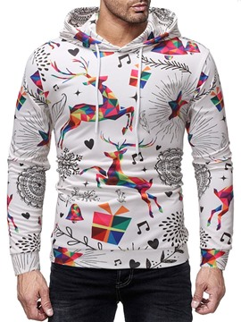 Ericdress Color Block Printed Pullover Casual Men's Hoodies