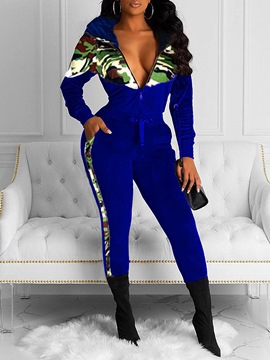 Ericdress Camouflage Casual Zipper Two Piece Sets