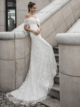 Ericdress Sleeveless Floor-Length Court A-Line Hall Wedding Dress 2020