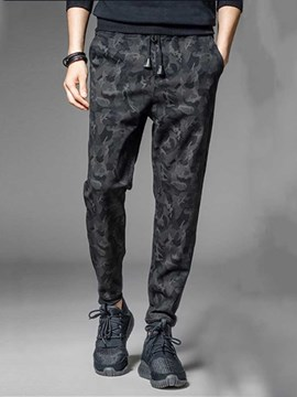 Ericdress Camouflage Pocket Lace-Up Style Men's Casual Pants