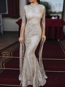Ericdress Floor-Length Sequins Long Sleeve Fall Elegant Dress