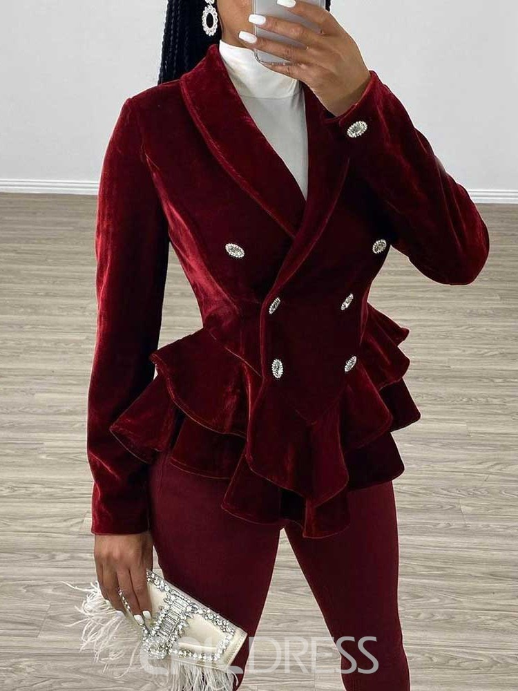 Ericdress Double-Breasted Plain Button Women's Casual Blazer
