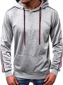 Ericdress Color Block Pocket Loose Men's Hoodies
