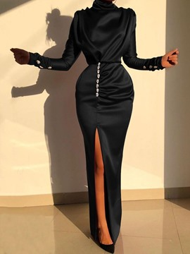 Ericdress Floor-Length Turtleneck Long Sleeve Fall Party/Cocktail Dress