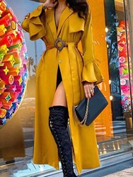 Ericdress Fashion Long Casual Loose Trench Coat