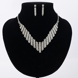 Ericdress Rhinestone Necklace Diamante Anniversary Jewelry Sets