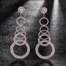 Ericdress Diamante Romantic Anniversary Earrings