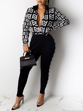 Ericdress African Fashion Print Casual Zipper Two Piece Sets