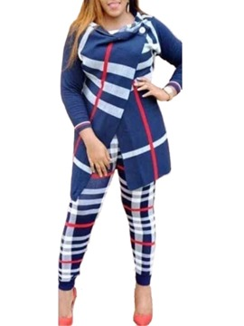 Ericdress Plus Size Casual Plaid Two Piece Sets