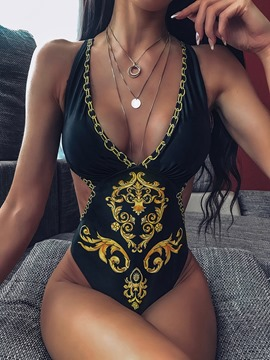 Ericdress African Fashion Dashiki One Piece Print Swimwear