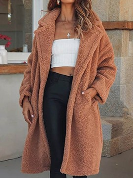 Ericdress Faux Shearling Loose Long Casual Overcoat