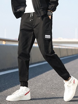 Ericdress Pocket Overall Lace-Up Style Men's Casual Pants