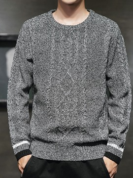 Ericdress Plain Color Round Neck Casual Men's Loose Sweater