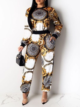 Ericdress Casual African Fashion Dashiki Print Two Piece Sets