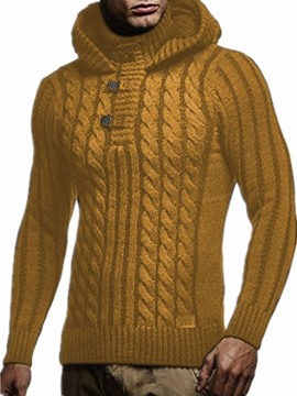 Ericdress Plain Color Hooded Casual Style Men's Sweater