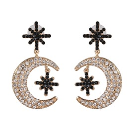 Ericdress Alloy Romantic Diamante Holiday Women's Charm Earrings