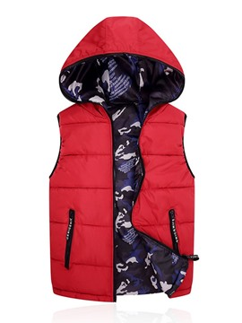 Ericdress Camouflage Zipper Hooded Korean Winter Men's Waistcoat