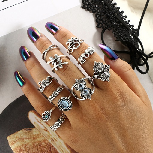 Ericdress Vintage E-Plating Birthday Charm Women Rings