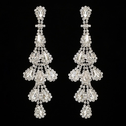 Ericdress Rhinestone Sweet Diamante Party Charm Earrings