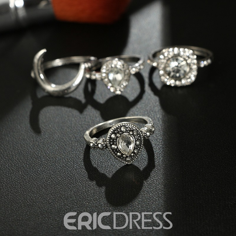 Ericdress Vintage Diamante Holiday Women's Rings