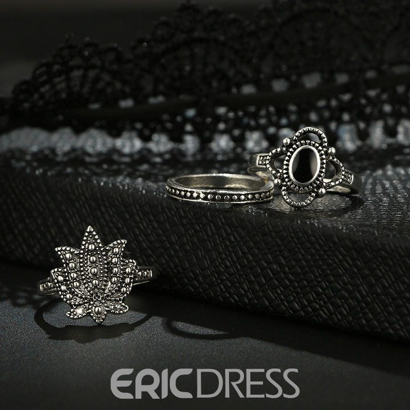Ericdress E-Plating Floral Vintage Birthday Female Rings