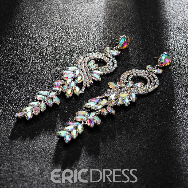 Ericdress Diamante Rhinestone Anniversary Fashion Earrings