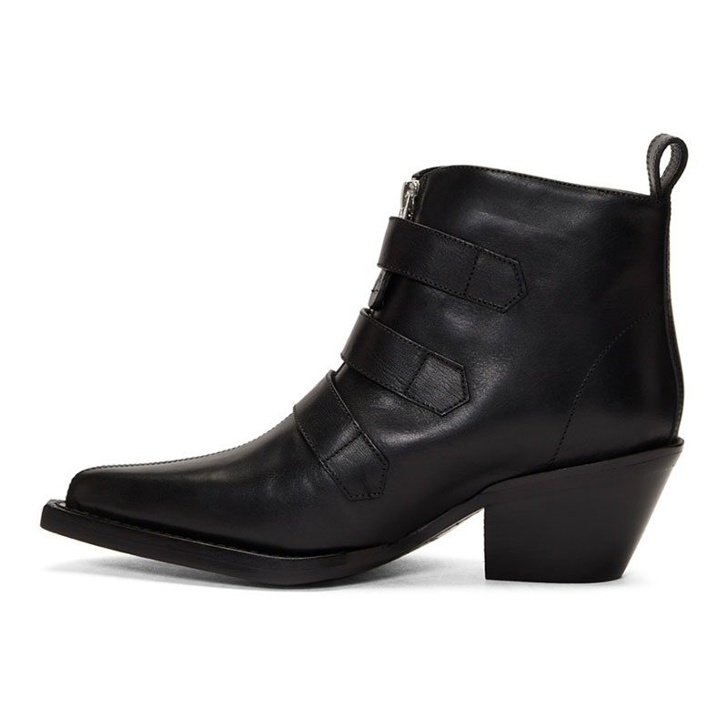 Ericdress Pointed Toe Front Zipper Plain Casual Women's Boots