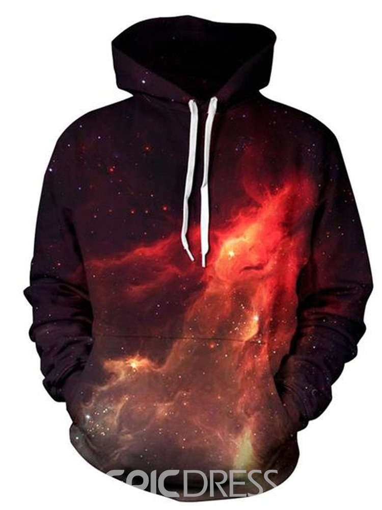ericdress sweat à capuche homme galaxy winter