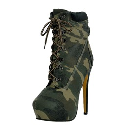 Ericdress Camouflage lacets talons bottes