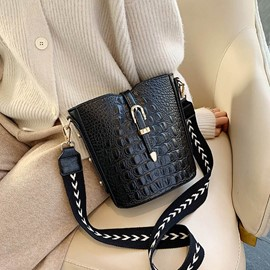 Ericdress Thread Alligator PU Rectangle Crossbody Bags