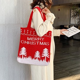 Ericdress Geometric Print Rectangle Christmas Shoulder Bags