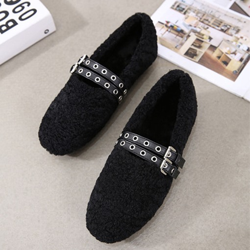 Ericdress Flat With Round Toe Slip-On Casual Flats
